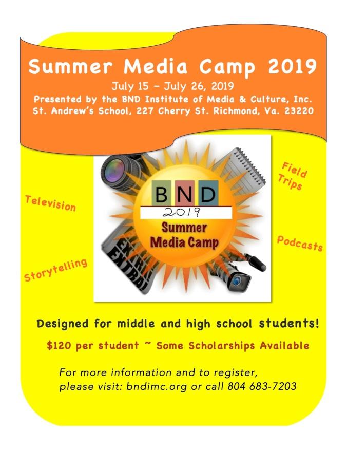 Camp Flyer 2019